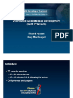Distributed Geodatabase Development-best Practices