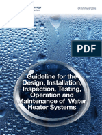 Guideline for the Design Installation Inspection Testing Operation and Maintenance of Water Heater Systems