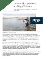 El Reto de Un Científico Peruano Para Limpiar El Lago Titicaca