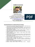 CV- Dr.Punit Kumar Dwivedi , Faculty- Entrepreneurship, Finance