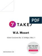 Take7 Mozart Violin Concerto No 3 Mov 1 Score and Parts