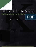 Kant - Religia Doar in Limitele Ratiunii