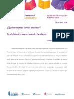 Claudia Piñeiro - Discurso de inauguración