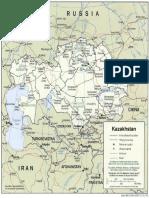 Kazakhstan Political Map  2001