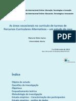 As Áreas Vocacionais No Currículo Glória Santos