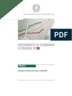 DEF 2018 Allegato 6 - Indicatori di benessere equo e sostenibile