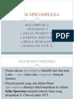 Filum Apicomplexa by Kel. 3