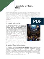 10 Lugares Que Visitar en Oporto Imprescindibles