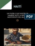 Hambre Haiti Galletas de Tierra