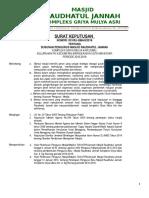 Sk Pengurus Takmir Masjid 2016-2019