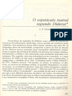 O Espetáculo Teatral Segundo Diderot - Franklin de Matos