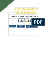 Hoja de Calculo Torre de Abosorcion. by