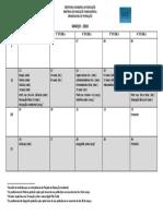 Calendário de Formação - Março