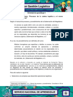 Evidencia 1 Flujograma Procesos de La Cadena Logistica y El Marco Estrategico Institucional