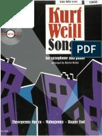 Kurt Weill Songs Piano Part