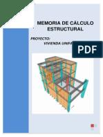 Memoria de Calculo de Estructuras Vivienda Cleo-piura