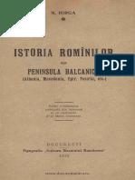 Nicolae Iorga - Istoria romanilor din peninsula balcanica - 1919