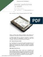 Recuperar Particiones GPT a MBR _ Blog Del Pc