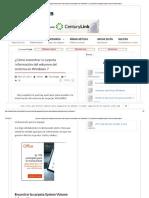 ¿Cómo Encontrar La Carpeta Información ... La Carpeta System Volume Information