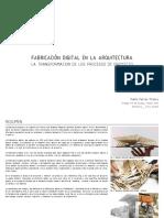 Fabricación Digital en La Arquitectura