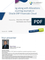 Allocations Recurring Journals Oracle Erp Financials Cloud