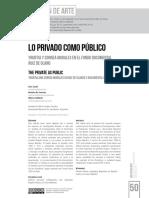 Lo privado como público Yrurtia y Correa Morales en el fondo documental Ruiz de Olano