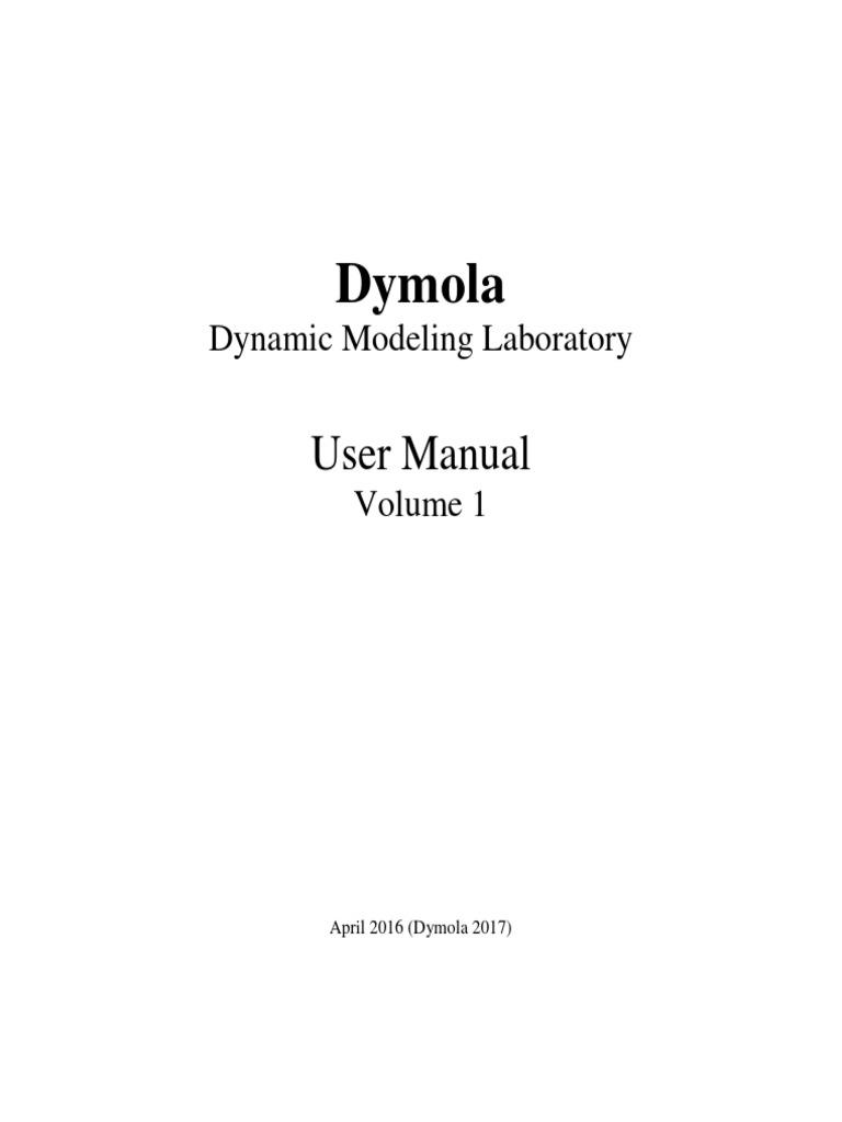 Dymola User Manual Volume 1pdf Menu Computing Graphical Original File Svg Nominally 573 X 444 Pixels Size Interfaces