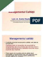 Managementul Calitatii introducere