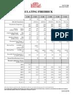 Insulating Firebrick Data Sheet