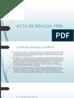 Acta de Brasilia 1998