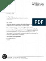 portfolio ii letter admittance to student teach