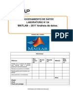 Lab 04 - Matlab - Analisis de Datos