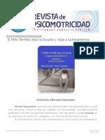 Revista de Psicomotricidad_ El Niño Terrible deja la Escuela y viaja a Latinoamé