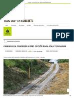 Caminos en Concreto Como Opción Para Vías Terciarias