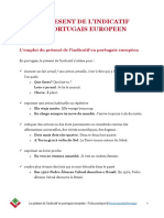Vocabulaireduportugal Fiche Pratique Present Indicatif Portugais Europeen