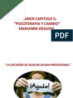 Resumen Capitulo II, psicoterapia Mariana Krausse
