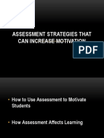 Assessment Strategies That Can Increase Motivation