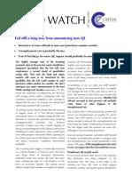 US Fed Watch (Sep 10)