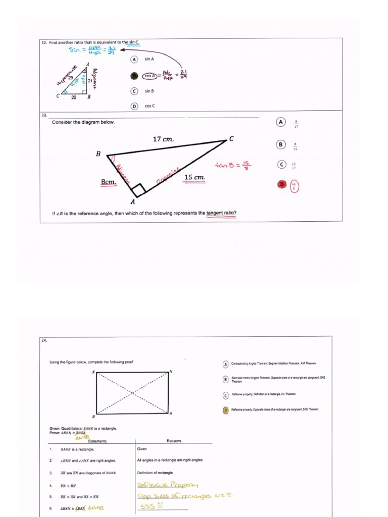 math nation geomerty fsa review part 2 ak calculators not ...