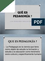 Qué Es Pedagogia
