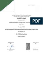 sertifikat menur