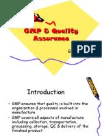 Gmp as Quality Assurance