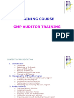 Gmp Auditor Training