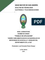 Diseño e Implementacion de Un Radioenlace De