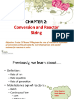 CRELect2-Conversion and Reactor Sizing