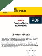 CVEN2301 Week 1 Revision of Statics 2016