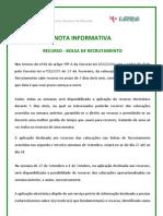 Nota Informativa - Recurso 2010_2011 Bolsa[1]; 2010.Set.14