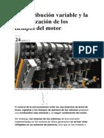La Distribución Variable y La Sincronización de Los Tiempos Del Motor