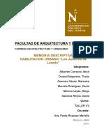 MEMORIA DESCRIPTIVA HABILITACIÓN URBANA-laredo.docx