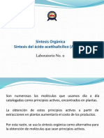 Laboratorio de Orgánica TM Síntesis Orgánica Aspirina